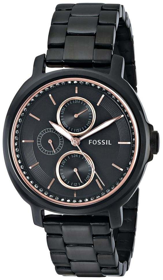 fossil s es3451 chelsey multifunction black