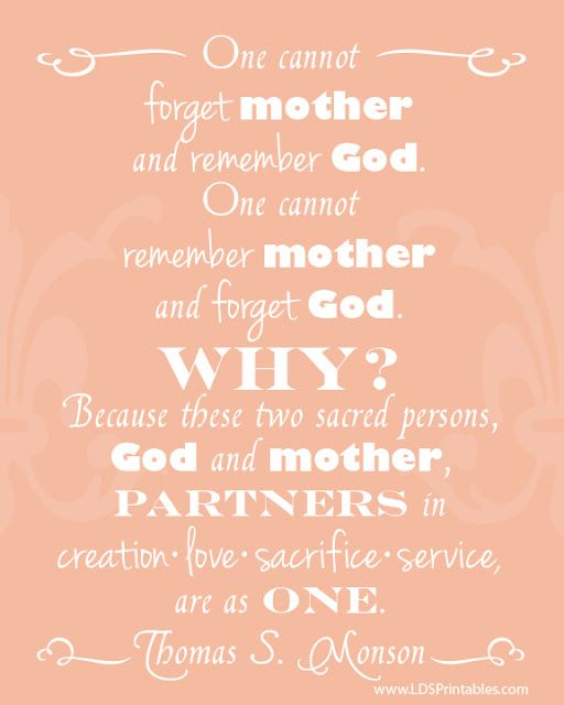 Mother And God Are Partners In Creation Love Sacrifice
