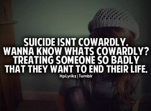 What you think about suicide ?