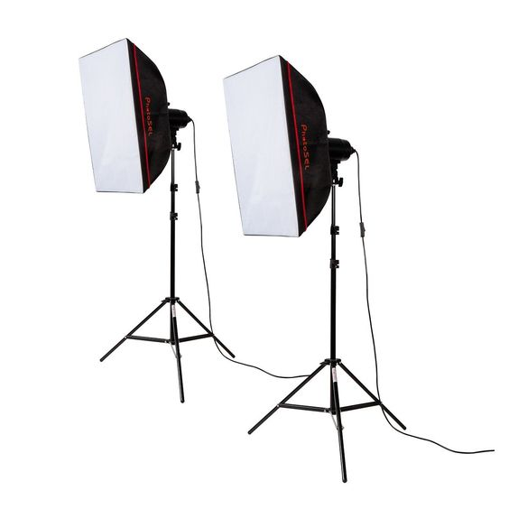 PhotoSEL LS21E52 Softbox Studio Lighting Kit - 2 x 85W (environ 130 €)