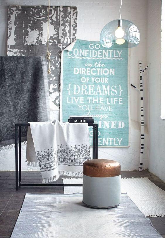 Teppich, Ornamentdruck, Baumwolle