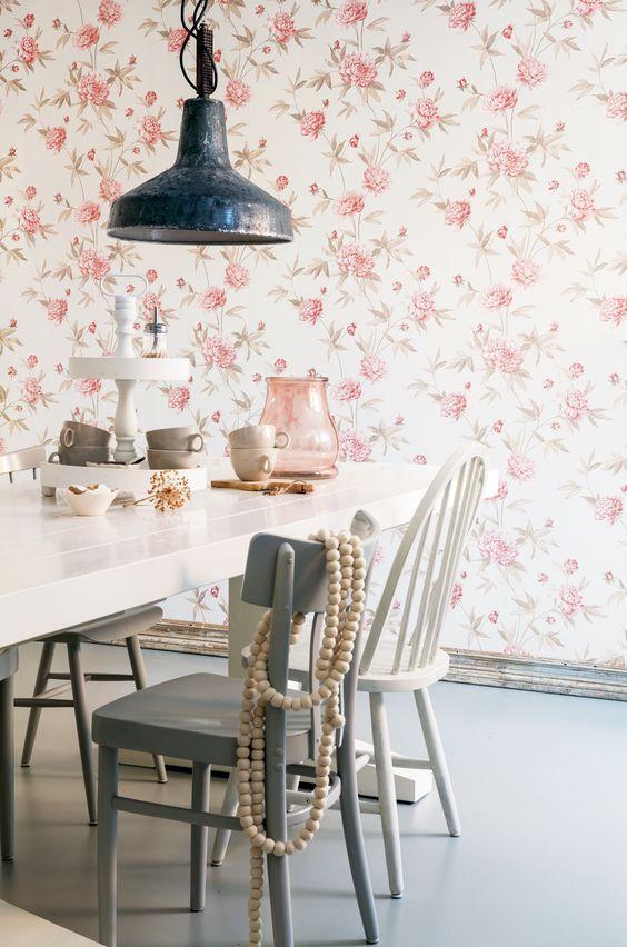 Flowers wallpaper/behang Bloomsbury - BN Wallcoverings