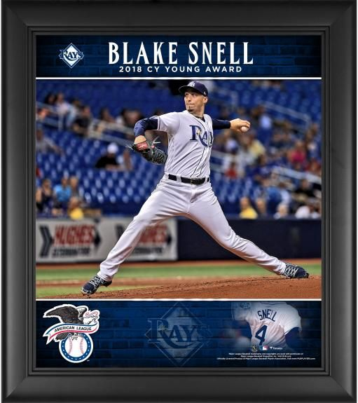 Blake Snell Tampa Bay Rays Framed 15 X 17 2018 Al Cy Young Award Player Collage Tampa Bay Rays Baseball Rays Baseball Tampa Bay Rays