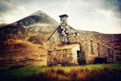 Bothy in the Highlands by Laura George