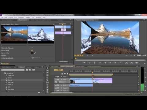 Adobe Premiere Pro CC Tutorial | Adjusting Video Transitions ...