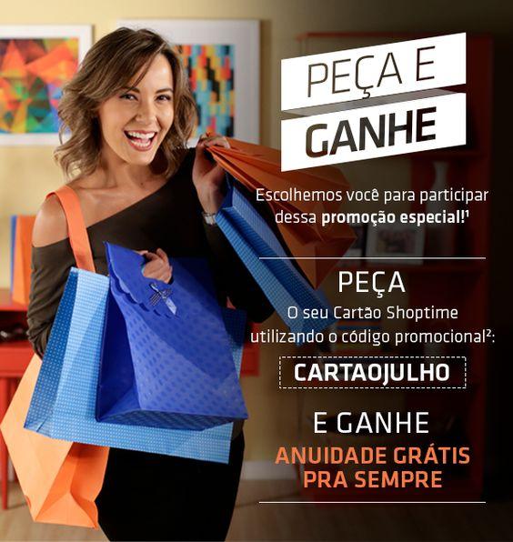 Cartão Shoptime - Anuidade grátis PRA SEMPRE