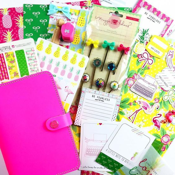 villabeautifful_creates: Uhmmmm hello pineapples and flamingos!!! You know I've been obsessed with these two things lately!! Here is the July edition of @theplannersociety monthly kit. I'm especially proud of this kit because my @shopvillabeautifful stickers are in it!!!! ☺️ Seriously, though if you are a subscriber you are going to just fall in love with everything.