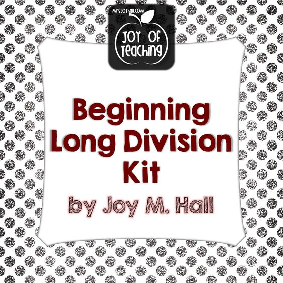 Division Worksheets division worksheets with grids : Beginning Long Division Kit | Long Division, Division and Teaching ...
