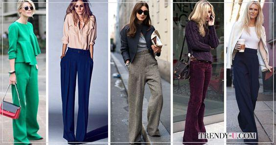 Рассказывая о must have осени и зимы 2015-2016, мы писали, что в моду входят широкие брюки.  Как их носить?