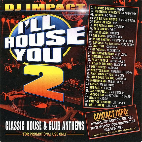 I'll House You Part 2 Mixtape Compilation CD DJ IMPACT