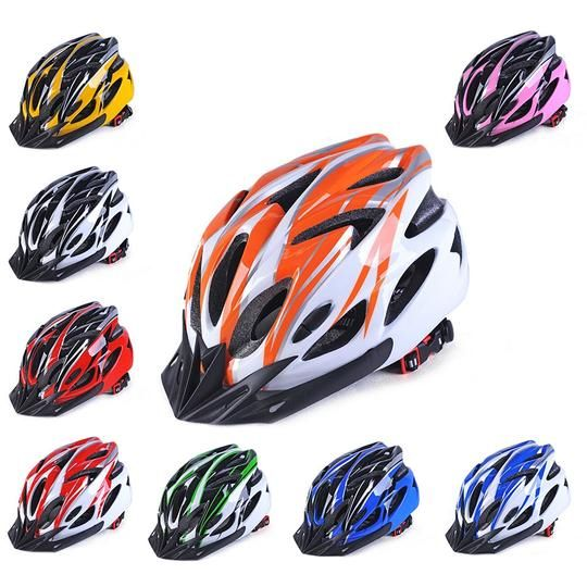 Adjustble MTB Road Bike Cycling Helmet EPS Integrally Safety Helmet Orange Color