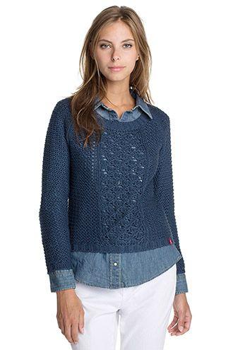 EDC / Pullover leggero lavorato a maglia larga