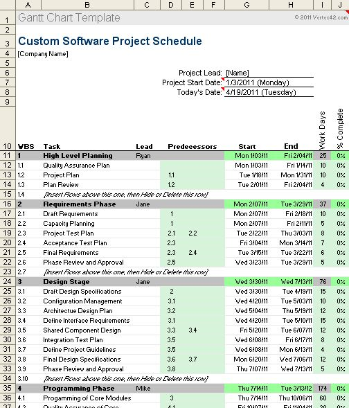 files sample construction schedule xls sample software project - project schedule sample