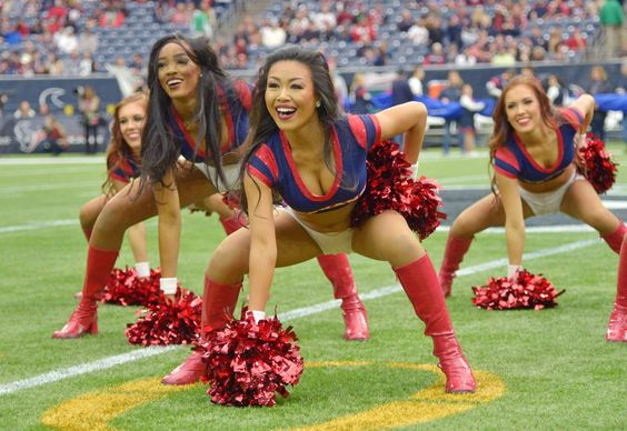 Houston Texans cheerleaders perform - Kirby Lee/USA TODAY Sports