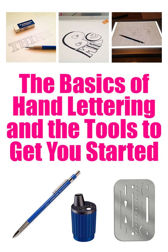 Hand Lettering Lettering And Tools On Pinterest