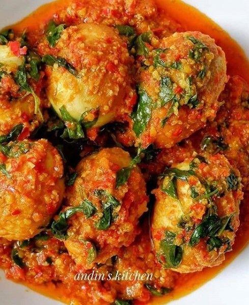 Woku Telur Bulet Resep Masakan Lauk Makan Malam Resep
