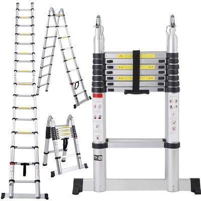 Ad Ebay En131 16 5ft Aluminum Telescoping Telescopic Extension Ladder Tall Multi Purpose Ladder Aluminum Extension Plastic Step Stool