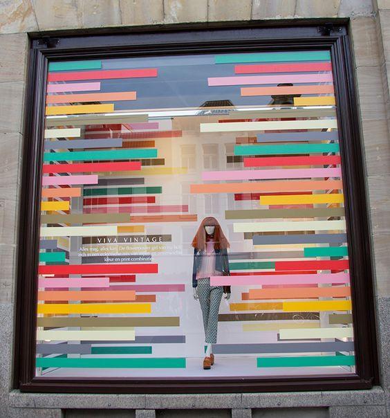 "DE BIJENKORF, Amsterdam, The Netherlands, ""Color Inside the Lines"", photo by Beekwilder B.V., pinned by Ton van der Veer::"