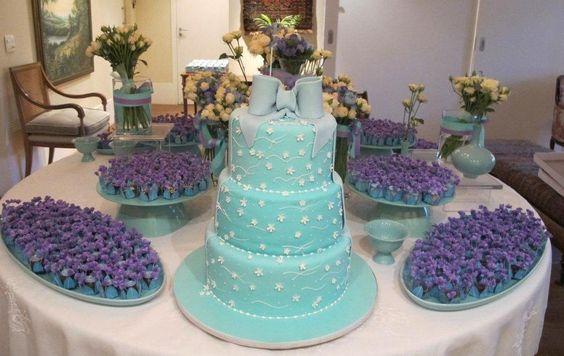 festa 15 anos azul e rosa chá - Pesquisa Google