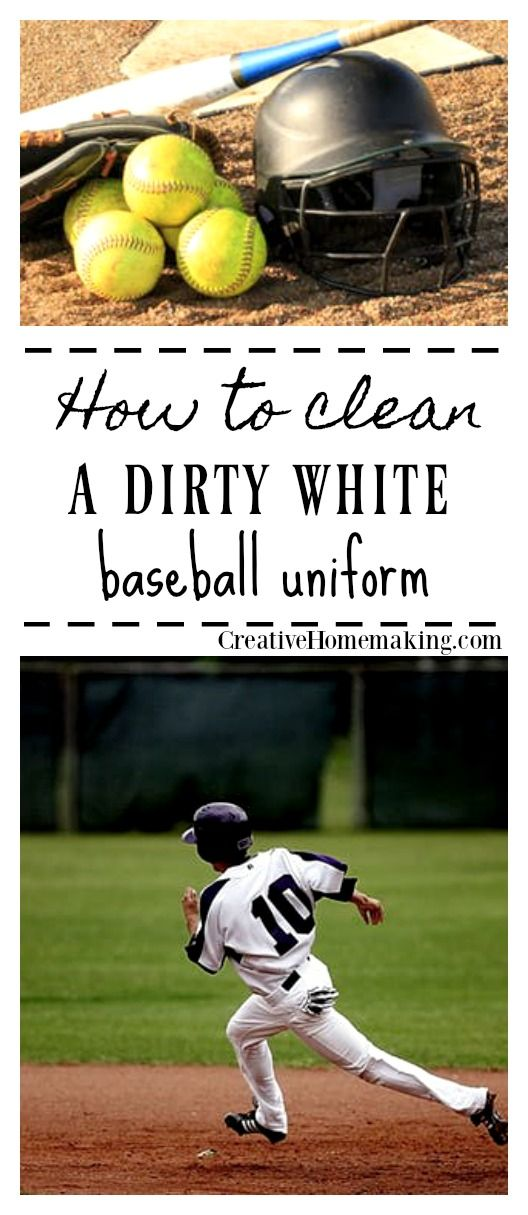 How To Clean A White Baseball Uniform Cleaning Hacks House Cleaning Tips Clean House