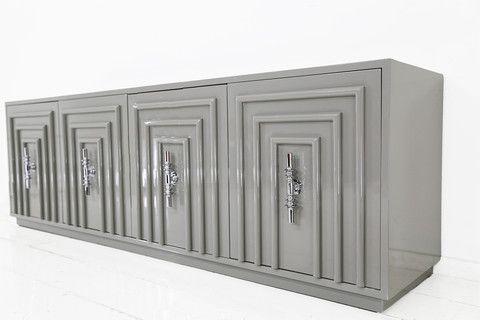 Art Deco Credenza in Greystone | ModShop 2795.00