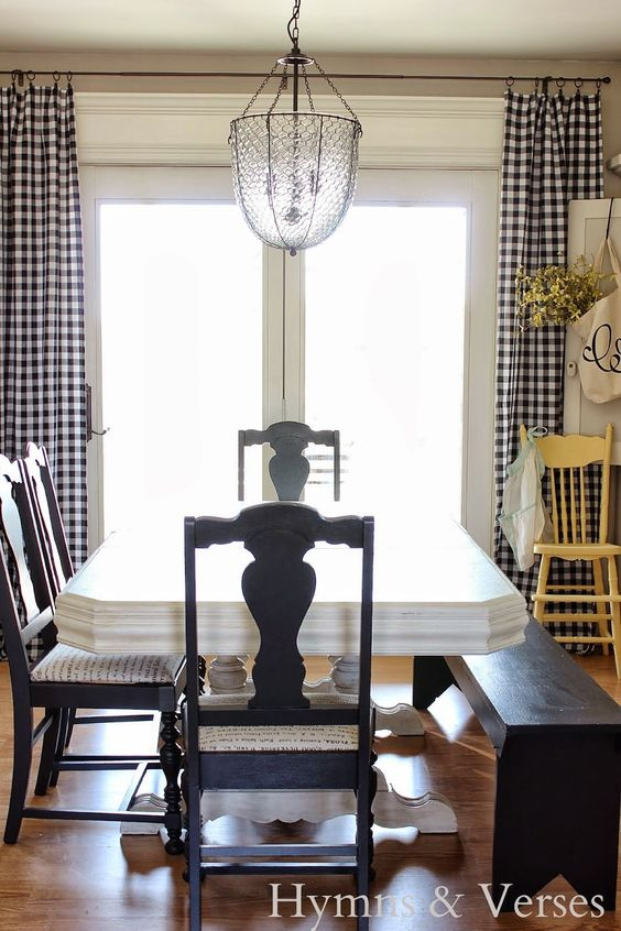 Gingham Gingham Curtains And Black And White On Pinterest