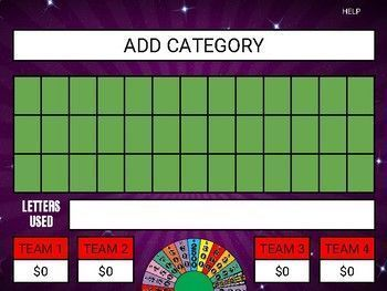 Wheel Of Fortune Google Slides Game Template Wheel Of Fortune Slide Games Wheel Of Fortune Game