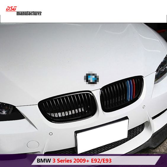 M Tri Color Abs Hood Grill Grille For Bmw 3 Series 2009