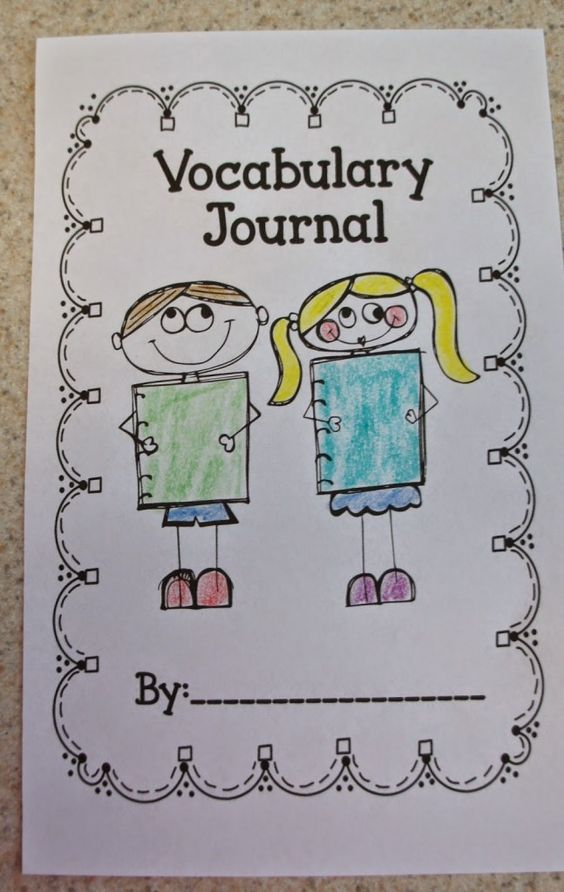 FREE vocabulary journal-perfect for incorporating into guided reading!