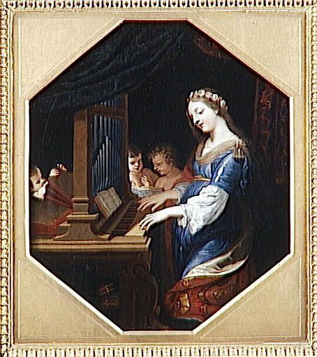 TICMUSart: Sainte Cecile playing the organ - Jacques Stella (I.M.)