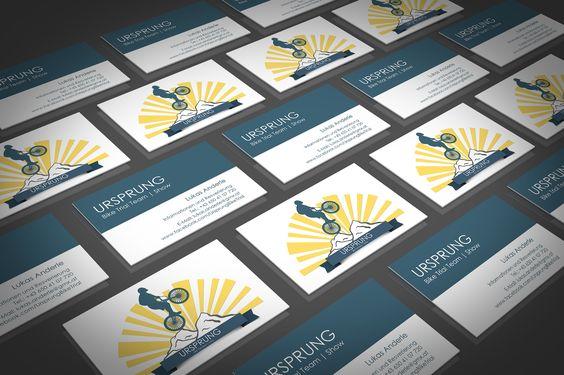 Logoentwurf und Gestaltung der Visitenkarte für Ursprung Bike Trial Team