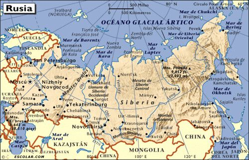 Mapa Geografico De Rusia Detallado Y Con Ciudades Actualizado