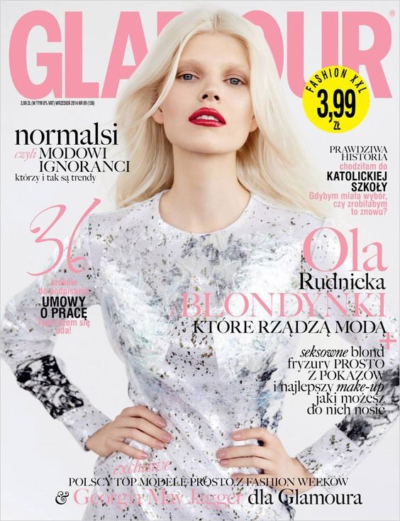 Ola Rudnicka for Glamour Poland September 2014