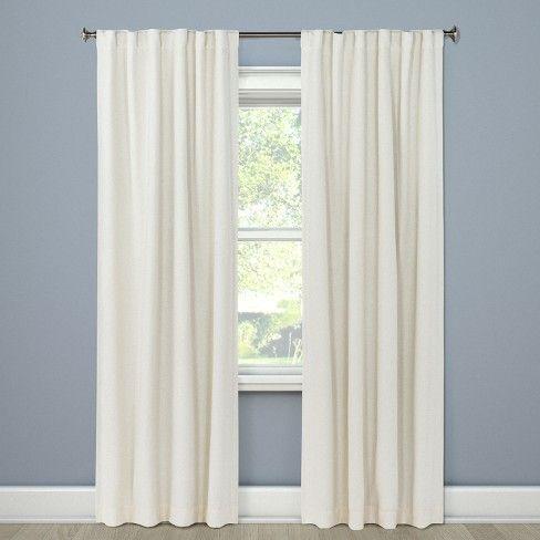 84 X50 Aruba Curtain Panels Blackout Sour Cream Threshold