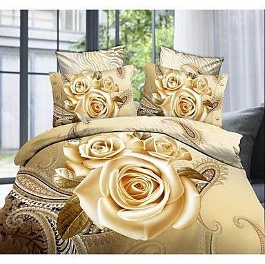 shuian® ensemble de housse de couette, 4 pièces confort de ventilation simple costume moderne motif imprimé 3d complet - EUR € 26.35