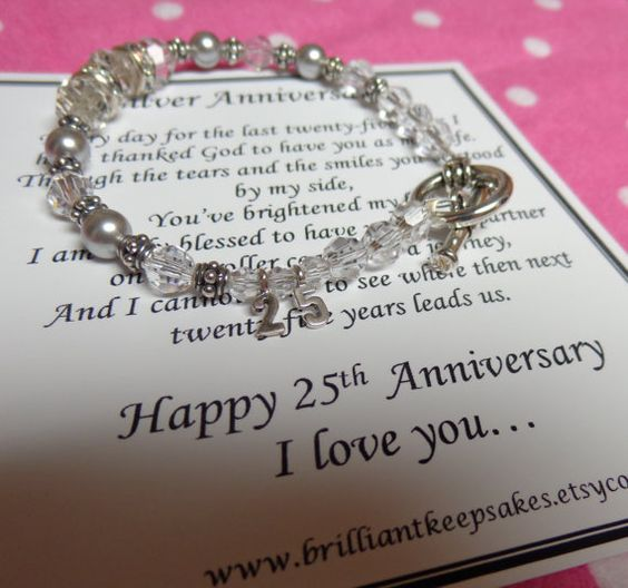 Silver Wedding Anniversary Gift Ideas For Husband: 25th Wedding Silver Anniversary Gift For Wife Sterling