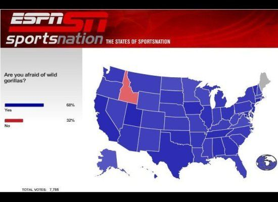 Ridiculous ESPN Poll Maps PICTURES - Idaho us map