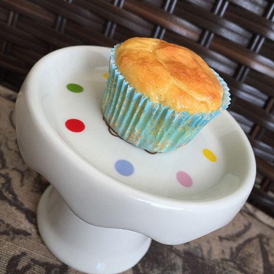 Mini cupcake de Whey e iogurte (sem glúten)   By Marina