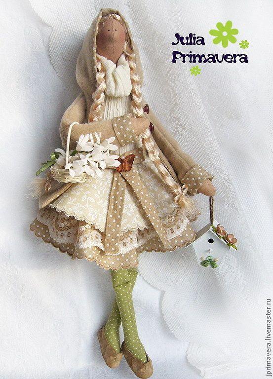 Купить Первые цветы (по мотивам Тильда) - тильда, тильда ангел, подарок, подарок девушке ♡