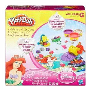 Conjunto Play-Doh Princesas - Jóias e Gemas Ariel
