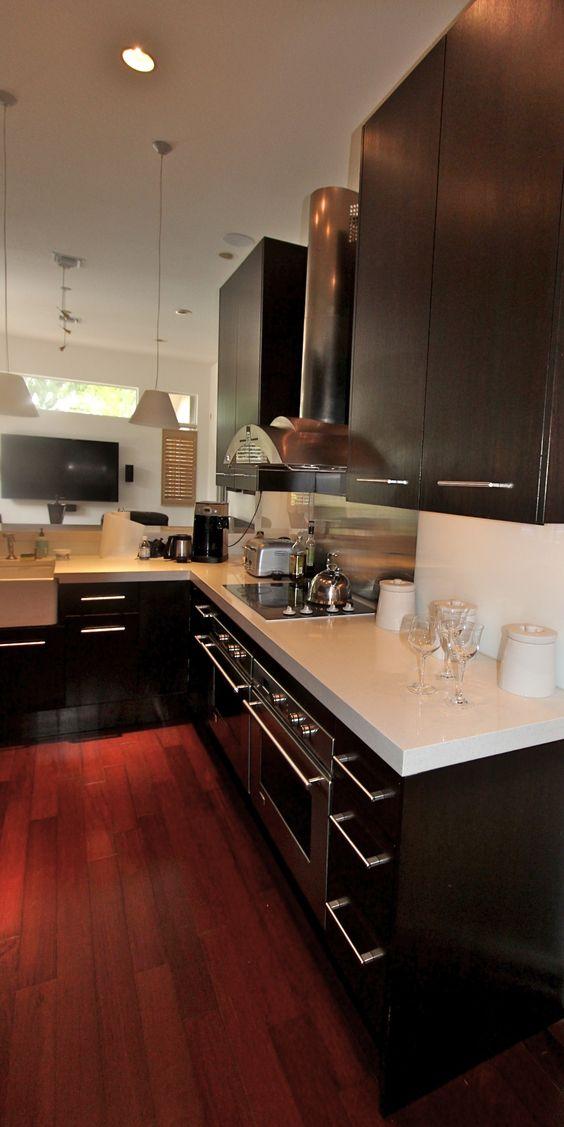 Modern dark units wenge kitchen kitchen pinterest for Wenge kitchen designs