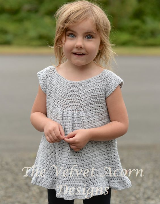 CROCHET PATTERN-The Swaleigh Top 2/3 4/5 6/7 8/9 by Thevelvetacorn
