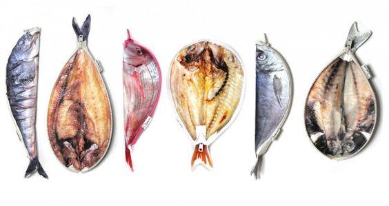まるで焼き魚・干物なお魚たちのペンケース