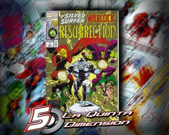 SILVER SURFER WARLOCK : RESURRECTION # 1 Comic de jim Starlin. $ 60.00 Para más información, contáctanos en http://www.facebook.com/la5aDimension