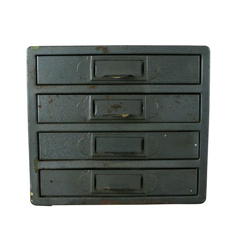 Industrial+Blue+Craftsman+Parts+Cabinet+C1940+