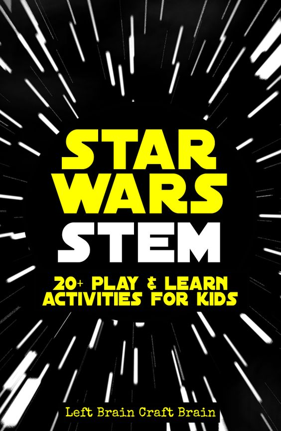 Kids can play & learn with their favorite characters with these Star Wars STEM activities.: