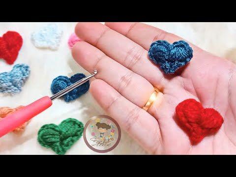 قلب كروشيه مجسم صغير ثلاثي الابعاد هتخلصيه في دقيقه بدون فايبر Youtube In 2021 Love Crochet Stud Earrings Earrings
