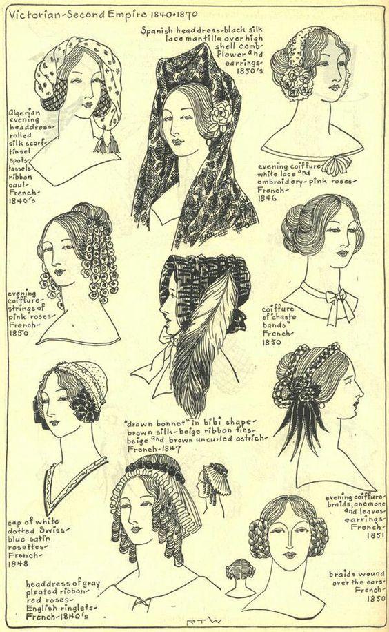 Coiffure Et Coiffe Sous Le Second Empire Histoire De La Mode Costume Historique Mode Historique