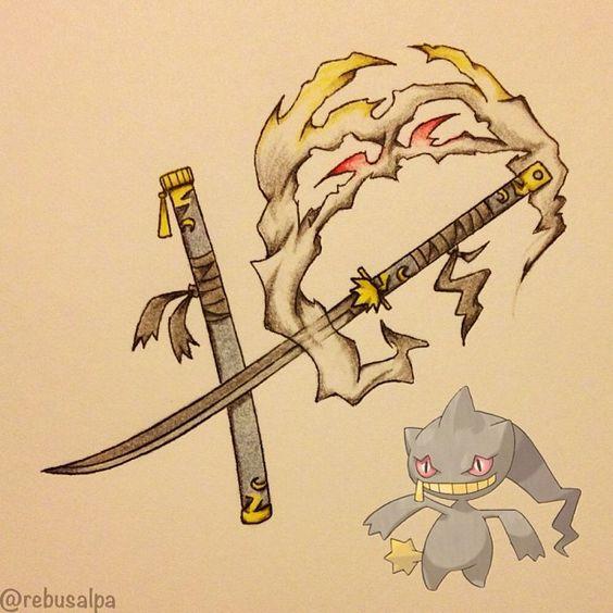 Pokeapon No. 354 - Banette. #pokemon #banette #nodachi #pokeapon #katana