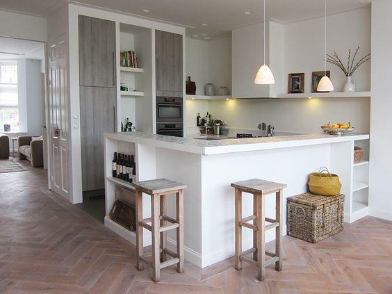 Dertien voorbeelden van een bar in de keuken. Overweeg jij een bar ...
